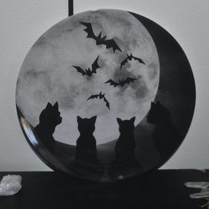 Other - SALE! Black Cats Bats Moon Tray